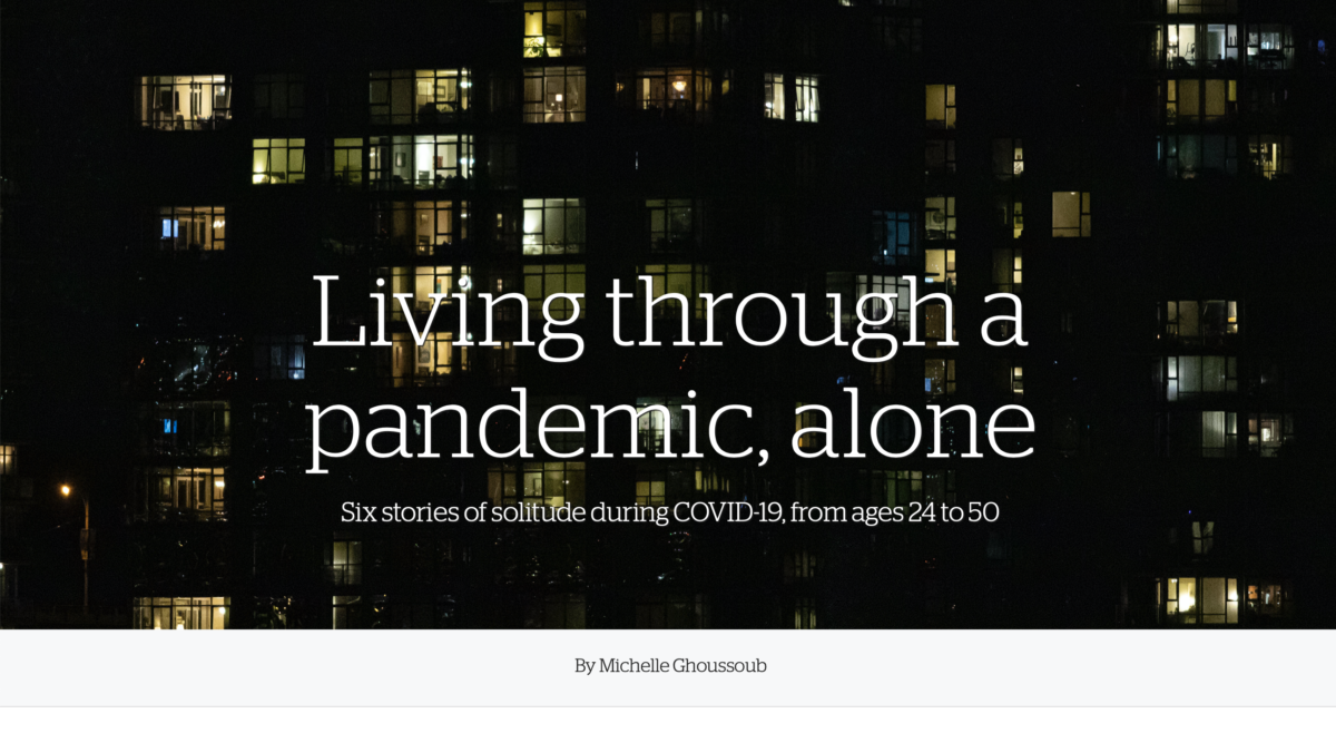 You are currently viewing Living through the pandemic, alone….